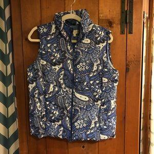 {TALBOTS} Blue Puffer Vest SP